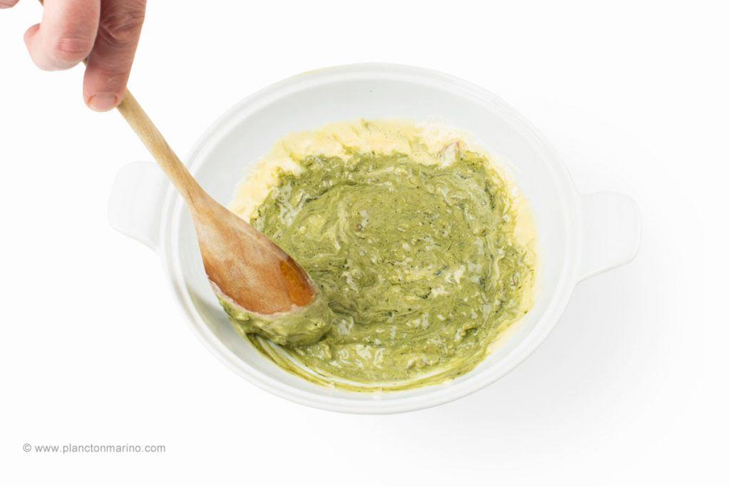 receta con crema de plancton